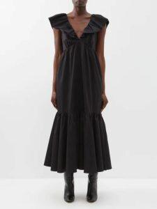 Anaak - Kai Belted Cotton Dress - Womens - Blue