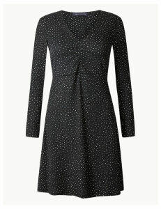 M&S Collection PETITE Polka Dot Fit & Flare Dress