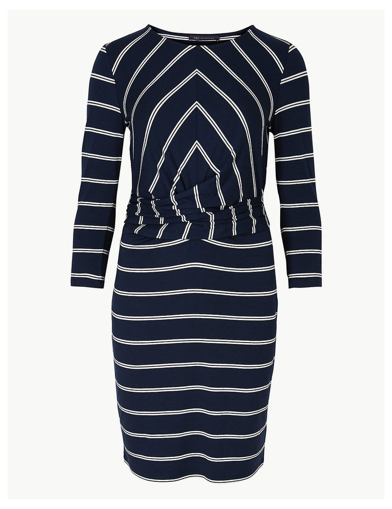 M&S Collection Striped Jersey Bodycon Mini Dress