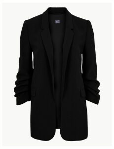 M&S Collection Ruched Sleeve Blazer
