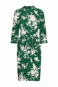 Womens Dorothy Perkins Petite Floral Tie Dress -  Green