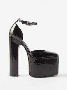 Borgo De Nor - Coco Orchid And Leopard Print Crepe Midi Dress - Womens - Blue Print