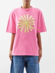 Borgo De Nor - Dianora Floral Print Silk Georgette Maxi Dress - Womens - Pink Print
