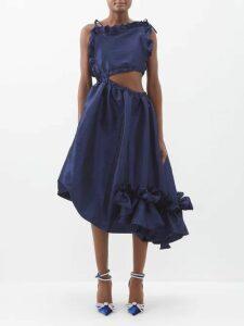 Dodo Bar Or - Lola Ruffle Sleeve Cotton Maxi Dress - Womens - Tan Multi
