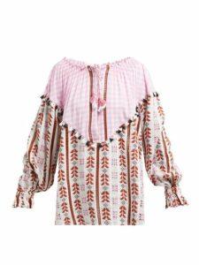 Dodo Bar Or - Alma Geometric Jacquard Cotton Top - Womens - Pink Multi
