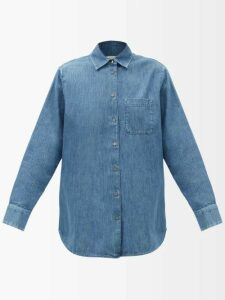 Jil Sander - Peplum Hem Cotton Blend Dress - Womens - Green