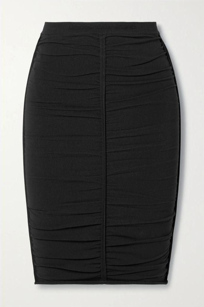 Chloé - Faye Day Small Croc-effect Leather Shoulder Bag - Dark brown