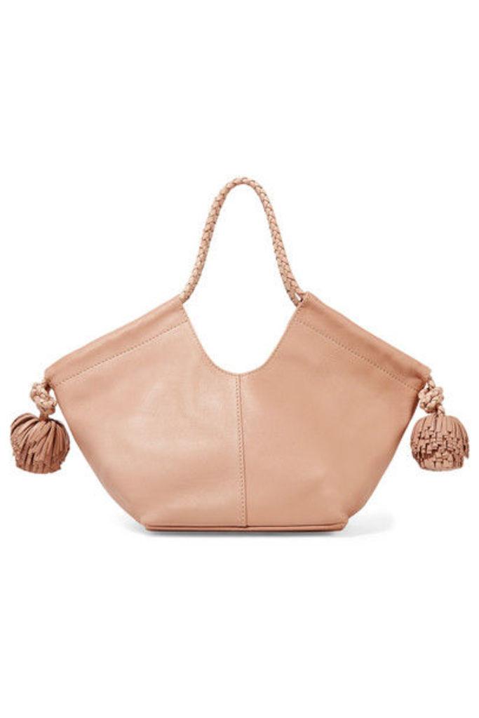 Ulla Johnson - Lali Mini Pompom-embellished Leather Tote - Blush