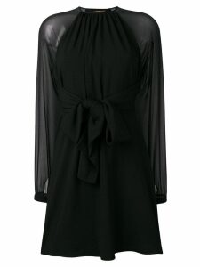 Saint Laurent sheer sleeve dress - Black