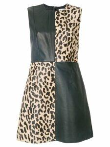 Diane von Furstenberg block print shift dress - Black