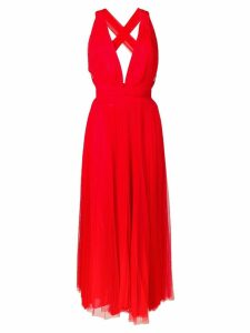Maria Lucia Hohan midi tulle dress - Red