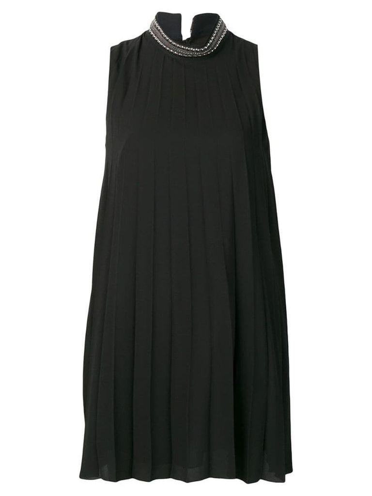 Dondup short pleated dress - Black