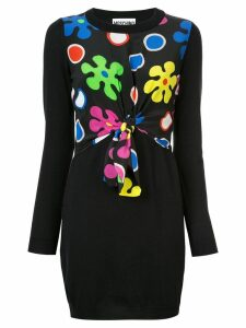 Moschino scarf detail mini dress - Black