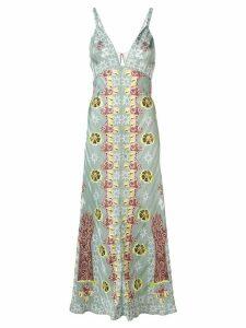 Temperley London Flux printed slip dress - Green