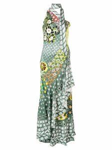 Temperley London Claudette one shoulder dress - Green