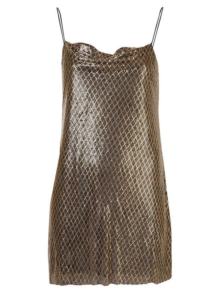 Alice+Olivia Harmony chainmail dress - Gold