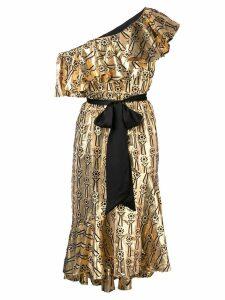 Temperley London Eliska one shoulder dress - Gold