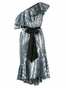 Temperley London Eliska ruffle midi dress - Blue