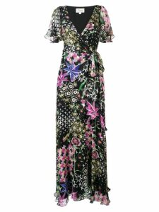 Temperley London Claudette wrap dress - Black