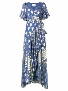 Temperley London Hetty star wrap dress - Blue