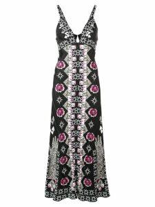 Temperley London Flux printed flared dress - Black