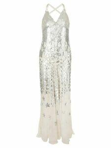 Temperley London Starlet sequined dress - Neutrals