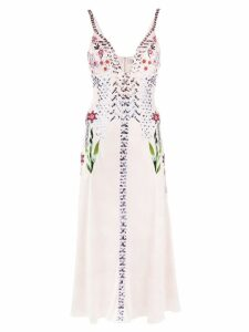 Temperley London Finale embroidered slip dress - Pink