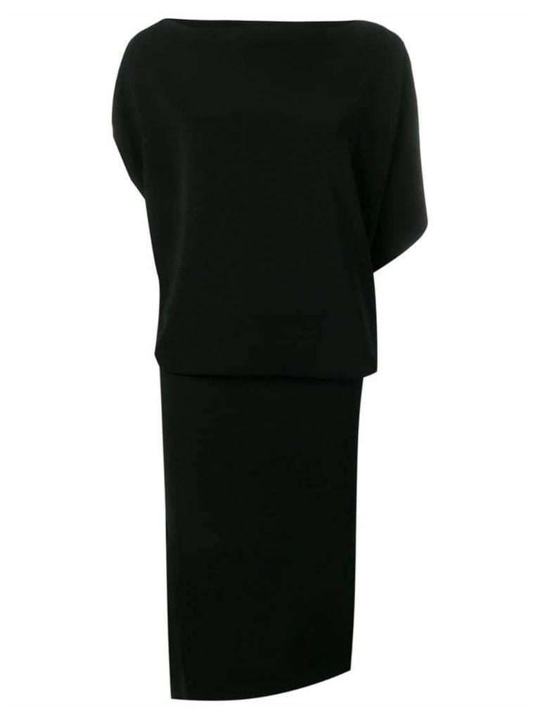 Poiret draped top dress - Black