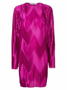Givenchy zig zag pleated dress - Purple