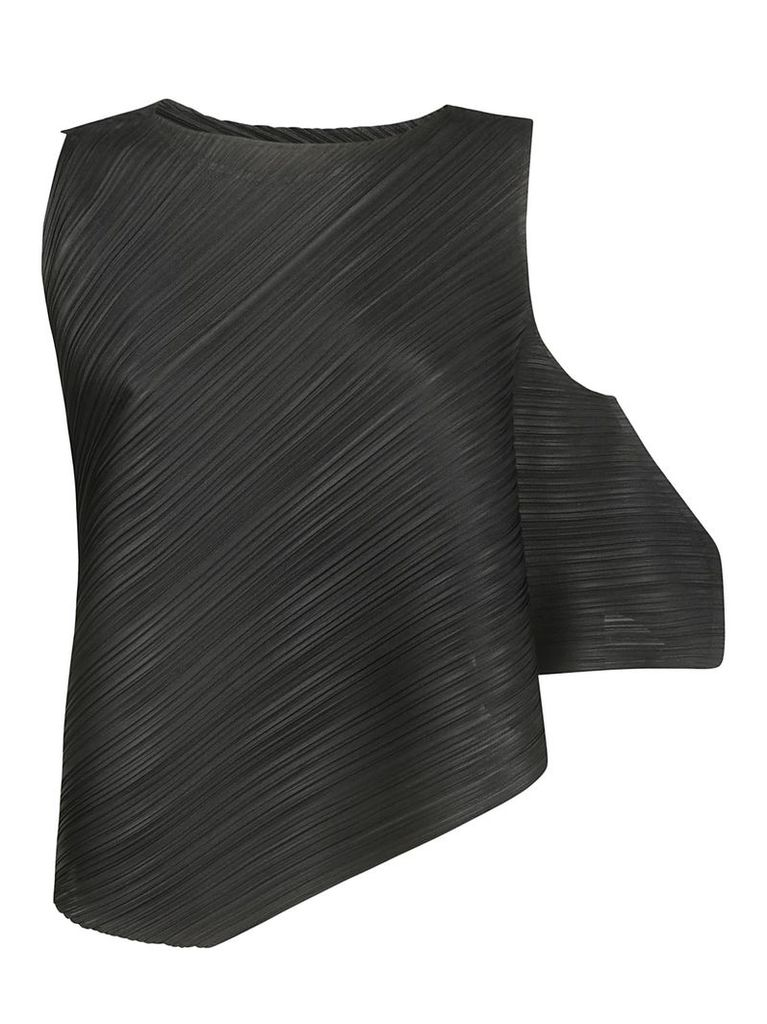 Pleats Please Issey Miyake Cross-grain Pleated Top