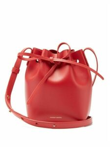 Mansur Gavriel - Red Lined Mini Mini Leather Bucket Bag - Womens - Red