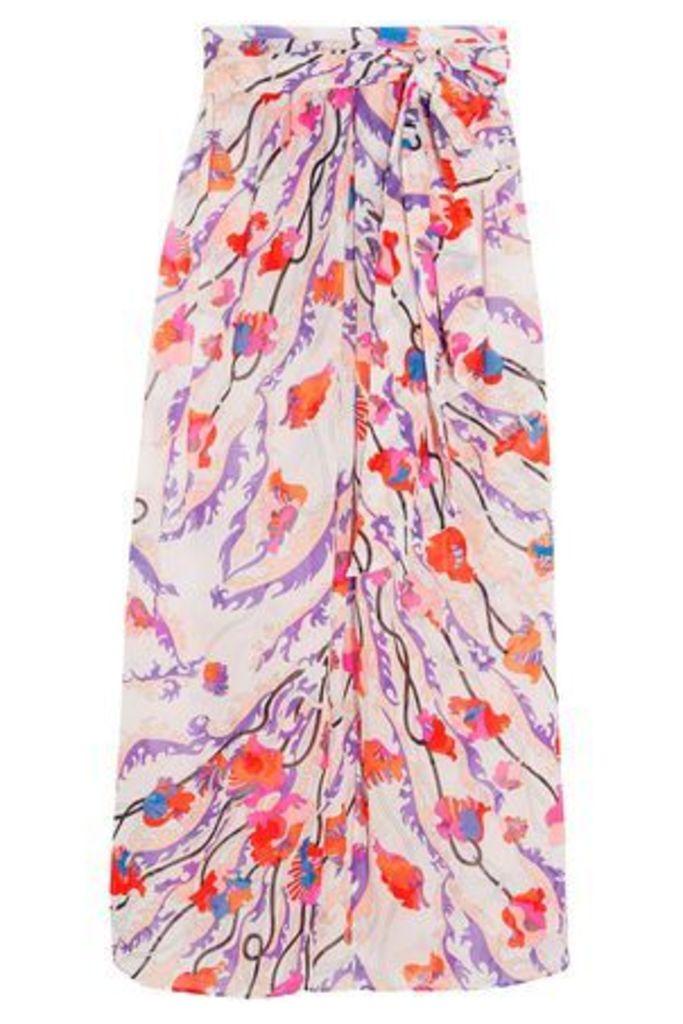 Emilio Pucci Woman Ranuncoli Printed Cotton-voile Maxi Skirt White Size 44