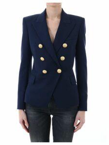 Balmain Blazer Blu Gold Buttons