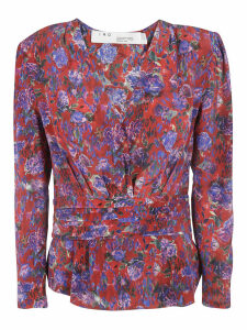 Iro Floral Print V-neck Blouse