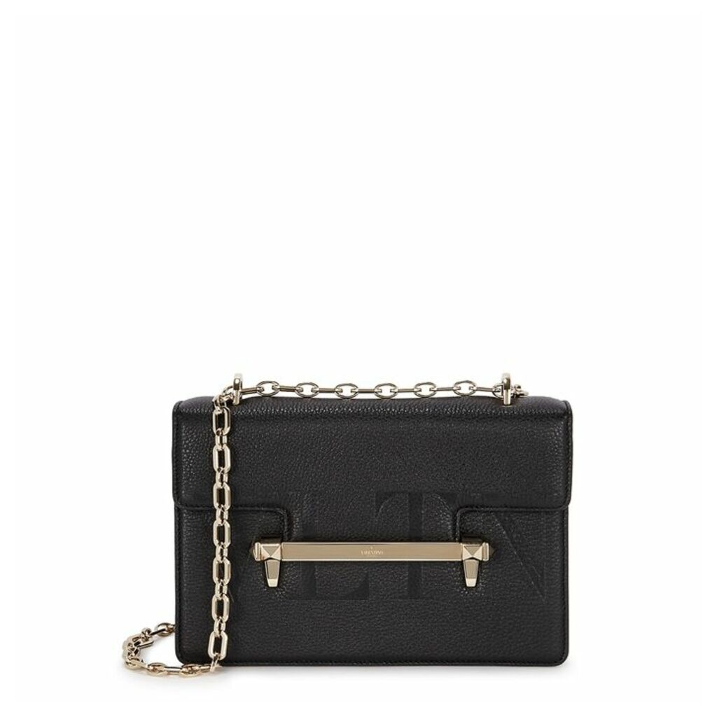Valentino Garavani Uptown Black Leather Shoulder Bag