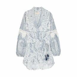 Rococo Sand Orenda Paisley-print Satin Mini Dress
