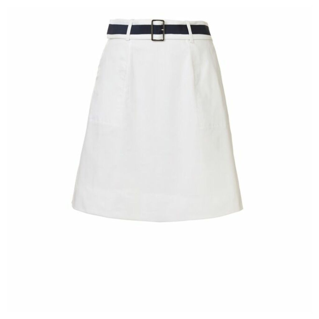 Winser London Cotton Twill A Line Skirt