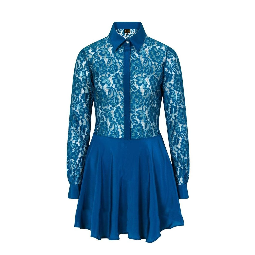 Sophie Cameron Davies - Teal Lace Silk Dress