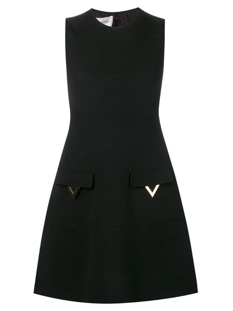 Valentino V pocket dress - Black