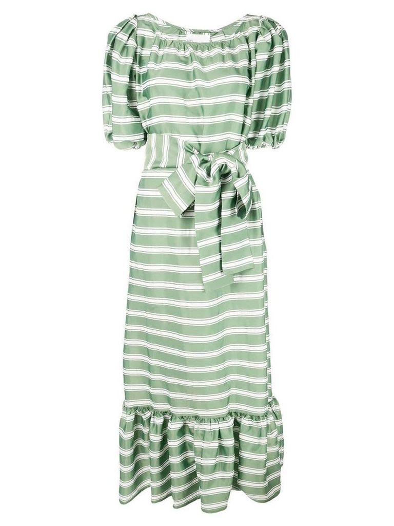Lisa Marie Fernandez maxi striped dress - Green
