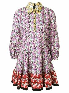 Valentino floral print dress - Purple