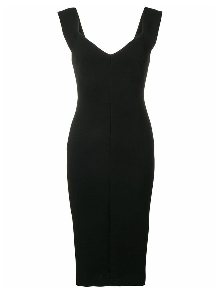 Victoria Beckham fitted sleeveless dress - Black