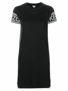 Kenzo logo sleeve T-shirt dress - Black
