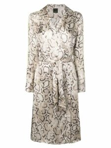 Pinko snake print dress - Neutrals
