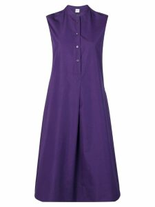 Aspesi flared shirt dress - Purple