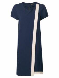 Antonelli wrap-style contrast panel dress - Blue