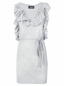 Dsquared2 ruffle-trimmed dress - Grey