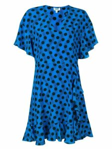 Kenzo polka dot mini dress - Blue