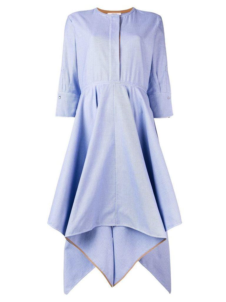 Dorothee Schumacher asymmetric shirt dress - Blue