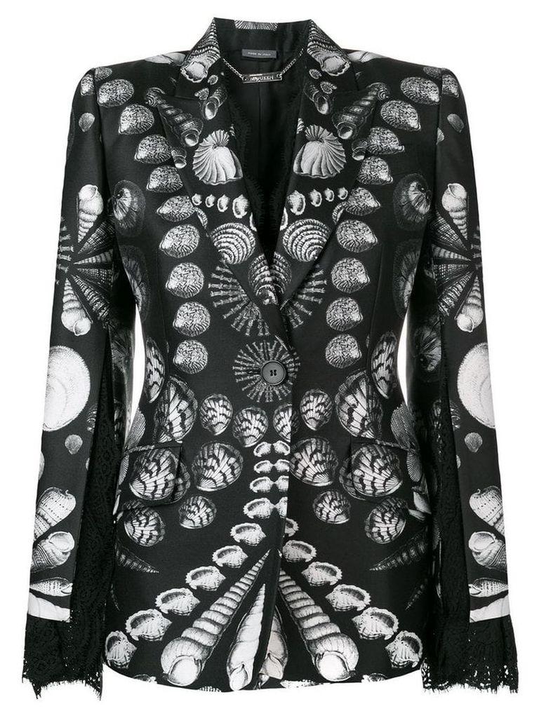 Alexander McQueen Seashell print blazer - Black